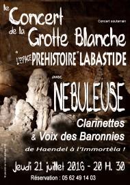 Affiche concert Grotte Blanche Nebuleuse copie gratuit